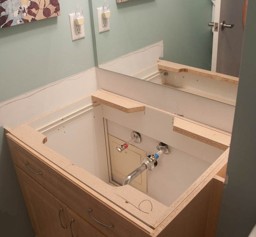 Installing a bathroom vanity sink for Plumbing bathroom sink