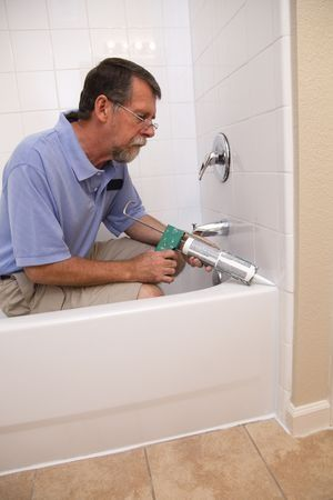 Caulking A Bathtub Waterproof Seal